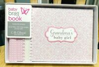 Grandmas Brag Book, Baby Girl Photo Album, Holds 20 Photos, C R Gibson