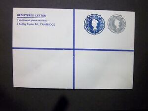 GB Postal Stationery STO QEII 2s + 1d Compound Registered Envelope H&B RSP15