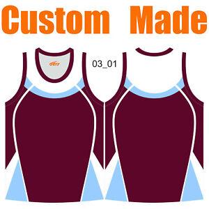 Custom Athletic Singlets Mens Ladies Kids Round-Neck/V-neck Sleeveless Shirt 03