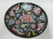 FAMILLE ROSE MADE CHINA PORCELAIN NOIRE DISH BOWL  FLORAL BUTTERFLY PATTERN