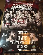 *UFC* TUF 20 FINALE! SBC (#/125) SIGNED/AUTO POSTER! ROSE NAMAJUNAS! FIGHT NIGHT