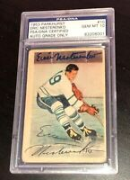 ERIC NESTERENKO SIGNED 1953 PARKHURST MAPLE LEAFS ROOKIE CARD PSA/DNA AUTO 10