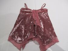 NEXT PRETTY DUSTY PINK CRUSHED VELVET WINTER STRETCH CAMISOLE TOP AGE 4 - 5
