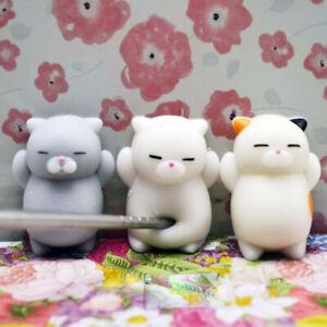 New Squishy Cat Stress Relief Mochi Toy Kawaii Slow Soft Rising Squeeze Fun Kids