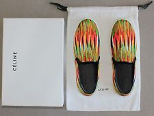 CELINE Paris Multi-color Canvas Skate Slip On Sneakers Size 40 NEW $670