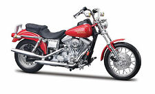 Harley Davidson 1997 FXDL Dyna Low Rider 1:18 rot Modelo De Motocicleta die-cast