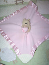 Classic Pooh Pink Fleece Winnie the Pooh Teether Security Blanket w Rattle EUC
