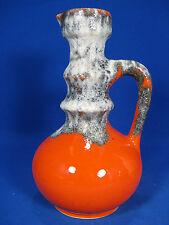 Beautiful 70´s design Jopeko pottery Keramik vase 7201  21 orange glaze