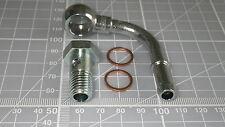 12 mm 90 GR Banjo per tubo flessibile 8 mm M12x1.5 Bullone olio combustibile in acciaio placcato