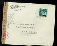 1941 Batavia Netherlands Indies Censored Cover to USA
