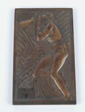 "ANDRE LAVRILLIER (1885-1958) BRONZE PLAQUE ""LEDA AND THE SWAN"" C. 1925"