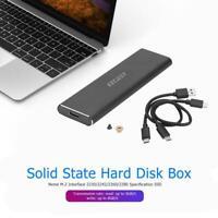 M2 SSD Case NVME PCIe Enclosure M.2 to USB Type C 3.1 GEN2 M Key Adapter Neu