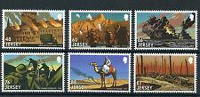 Jersey 2016 MNH WWI Great War Pt III Battles 6v Set Gallipoli Somme Ypres Stamps