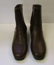 Vintage Permasole ENDICOTT JOHNSON- Brown -Side Zip-Ankle Boots Mens Size 7.5E