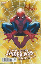 AMAZING SPIDERMAN ANNUAL 1 VOL 4 2016 SIGNED by ARTIST ED McGUINNESS VARIANT NM