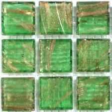 225 or vert vitrifiée verre mosaïque 20mm Tuiles G24