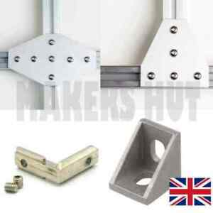 Joining Plate & Insert for 2020 Aluminum Extrusion - RepRap CNC 3D Printer V ...