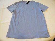 Men's Polo Ralph Lauren v neck T shirt soft L 661027 DRS SRT Blue orange logo