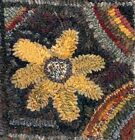 SUNFLOWER MY PRIMITIVE THINGS COLLECTION  LINEN RUG PATTERN