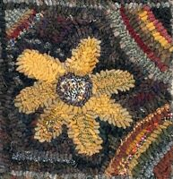 SUNFLOWER~ MY PRIMITIVE THINGS COLLECTION ~ LINEN RUG PATTERN