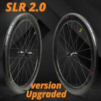 ELITE SLR Carbon Fiber Wheels 88mm Road Bike wheelst Clincher Tubeless 700C rims