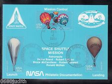 A 41) US Card SPACE SATELLITE satellite navette spatiale mission