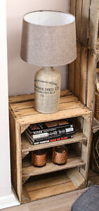 RUSTIC SIDE TABLE - Handmade in UK from upcycled vintage wood- FREE DELIVERY