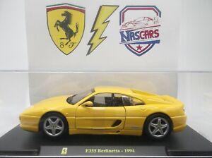 1/24 Ferrari F355 Berlinetta 1994 jaune Hachette/Bburago Les grandes Ferrari