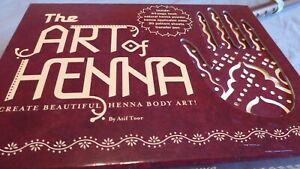 Create Beautiful Body Art, NEW The Art of Henna Kit, by Atif Toor- Crafts Gift