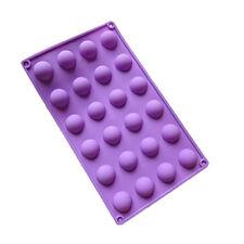 "Silicone Mould 24 Small (1"") Semi-Circle/Half Spheres/Balls-Cake Pops/Chocolates"
