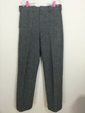 Vintage LL Bean Thick Wool Nylon Hunting Trousers Pants USA 32 Missing Suspender
