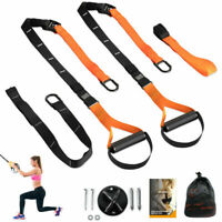 Suspension Trainer Straps Kit Bodyweight  Home Workout Exercise Gym Fitness