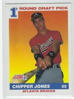 "1991 SCORE CHIPPER JONES ""1st ROUND DRAFT PICK"" RC #671 ATLANTA BRAVES"