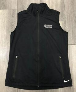 NikeGolf Women's Full Zip Golf Vest Black Size Medium