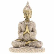 Handmade Meditation Buddha Statue Sandstone Sculpture Figurine # 3 H7O1