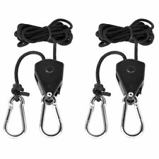 2PC 1/8 Rope Ratchet Hanger For LED HPS Grow Light Fan Carbon Filter DWC system