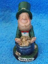 Ireland Leprechaun Leaning Over Pot Of Gold Figurine