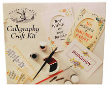 HOUSE OF CRAFTS CALLIGRAPHY CRAFT KIT CREATIVE WRITING NIBS PEN INK PAD GIFT SET