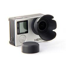 Sonnenblende Linsenschutz Lens Hood Go Pro GoPro Hero 3, 3+, 4 schwarz black