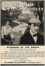 1901 Ad Columbia Bicycles Edwardian Couple Outdoor Scene Or Waverly Electric Car