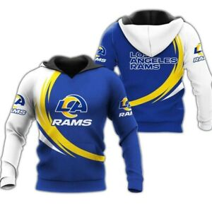 Los Angeles Rams Men Hoodies Hooded Pullover Sweatshirt Football Activewear Coat