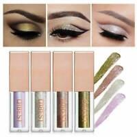15 Colors Glitter Liquid Eyeshadow Makeup Waterproof Lasting Shimmer Metallic UK