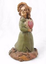 "1989 Tom Clark Figurine ""Peg"" Lady with Cutout Heart, Valentine/Love Letter Mud"