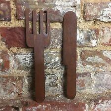 Rusty couteau et fourchette signe metal shop Home Bar Pub Cafe Restaurant Cuisin...