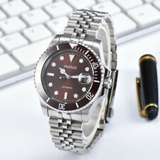 40mm Parnis 21 Jwerl Japan Miyota Sapphire Glass Men Automatic Watch Coffee Dial