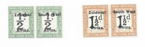 South West Africa 1926 postage due 1/2 d + 1 1/2 d mint