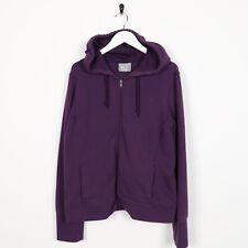Vintage Women's CHAMPION Small Logo Zip Up Hoodie Sweatshirt Purple | XL