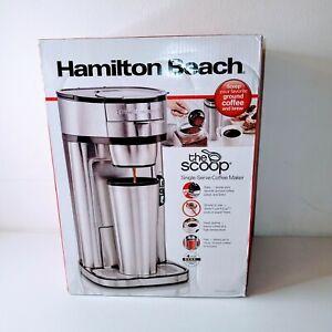 Hamilton Beach The Scoop Single-Serve Coffee Maker 14 oz Stainless Steel NEW