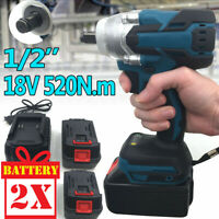 "1/2"" 520Nm 7800mAh Brushless Cordless Electric Impact Wrench Drill Screwdriver"
