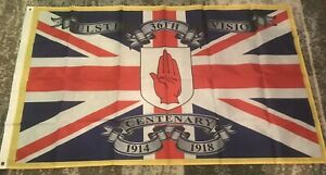 Uvf Flag 36th Ulster Division Centenary Union Jack Flag Rangers FC Loyalist WW1